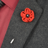 Men's Brooch Pins Fabric Bow Lapel Pin for Men Suits Fashion Men Jewelry Lapel Pin Brooches Flower Pattern Corsage 13 PCS/LOT