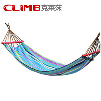 Muti Color Portable Travel Outdoor Camping Tourism Cotton Rope Swing Fabric Stripes Single Leisure Folding Hammock