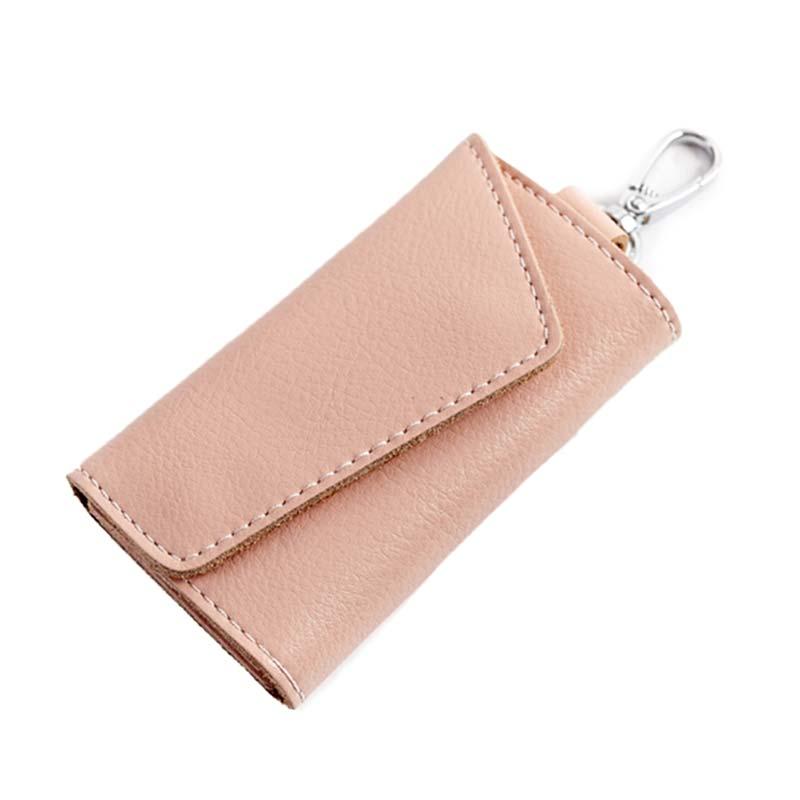 Men Women Car Keys Bag Case Cow Leather Business Card Holder ...