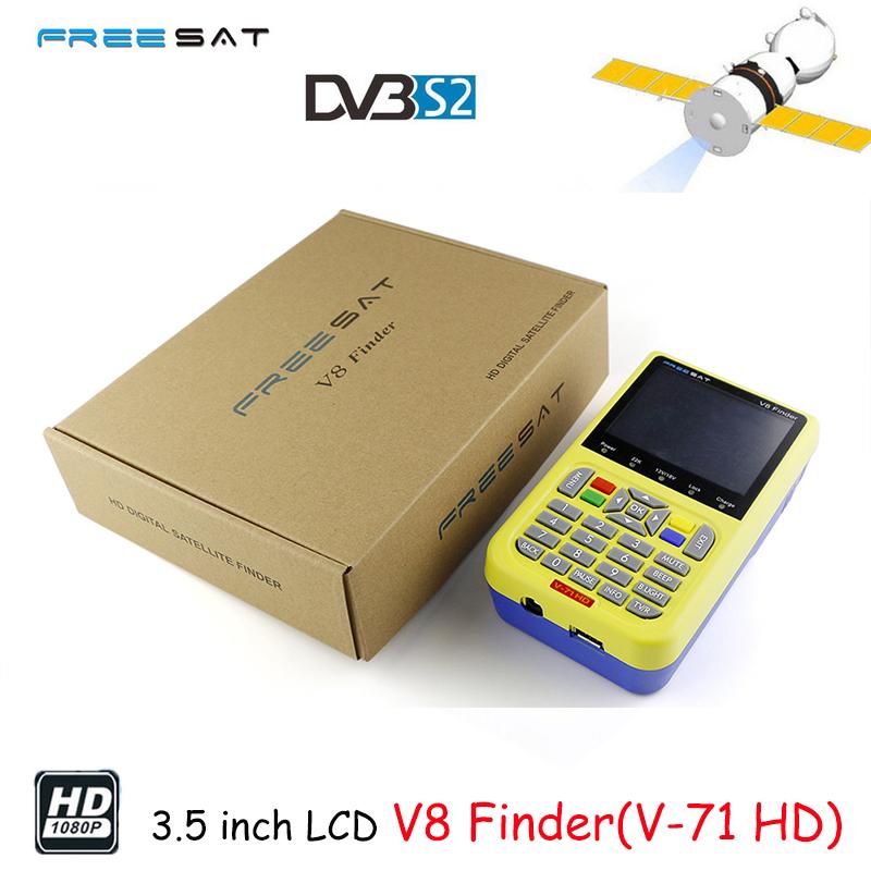 Prix pour Freesat v8 finder full hd dvb-s2/s haute définition fta numérique satellite signal finder v-71 mpeg-2/mpeg-4 satellite finder compteur
