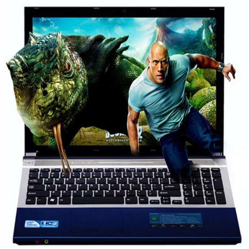 8G RAM DDR3+240G SSD+1000G HDD 15.6inch LED Intel Core I7-5500U CPU Laptop Windows 7/10 Notebook With DVD-RW WIFI Bluetooth