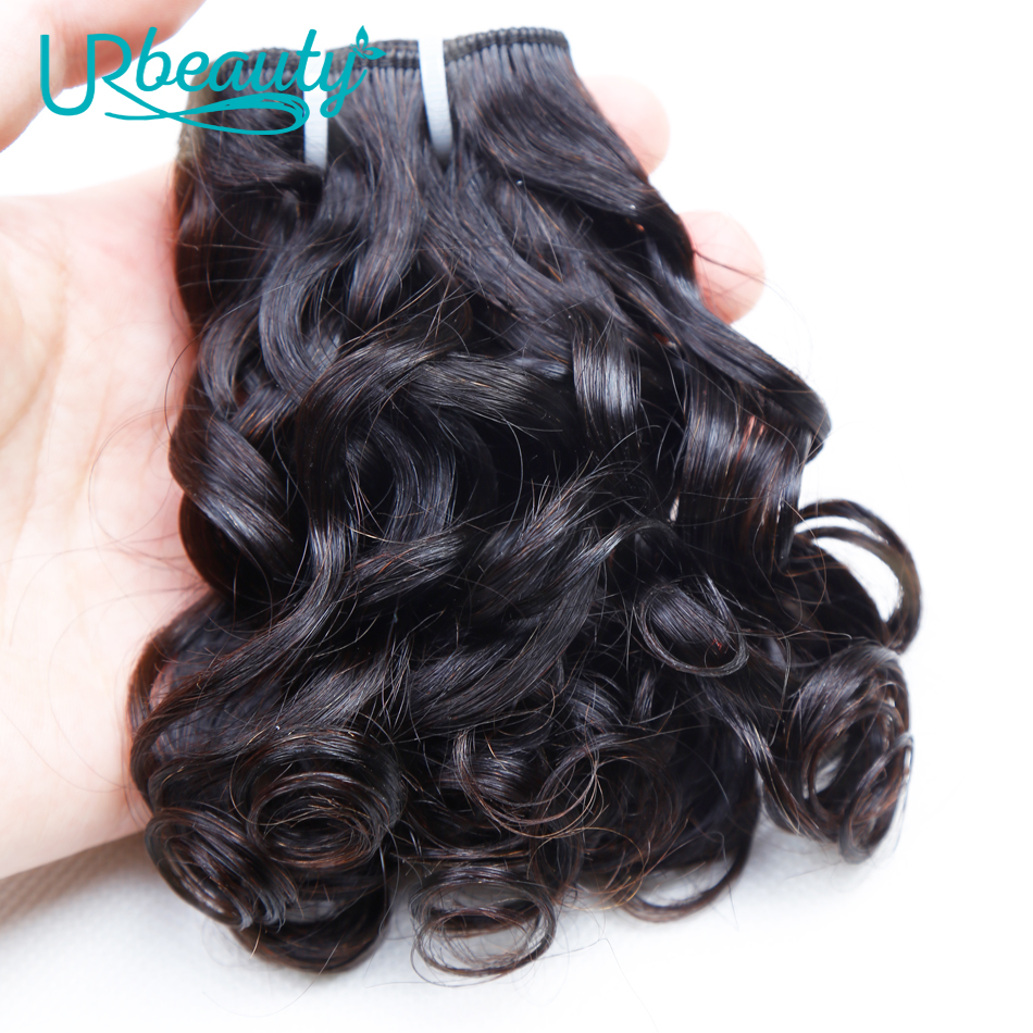 Image 2 - 25g/pc Brazilian Wavy Bundles 100% Human Hair 8 Bundles Wavy Human Hair Weave Bundles Natural color UR Beauty Remy Hair-in Hair Weaves from Hair Extensions & Wigs
