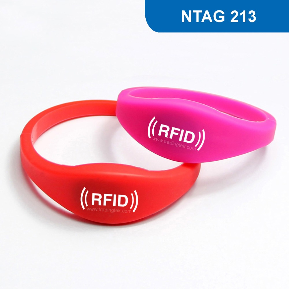 WB03 Silicone NFC Wristband RFID Bracelet RFID Access Control Card ISO 14443A Frequency 13.56MHz, NTAG 213 Chip