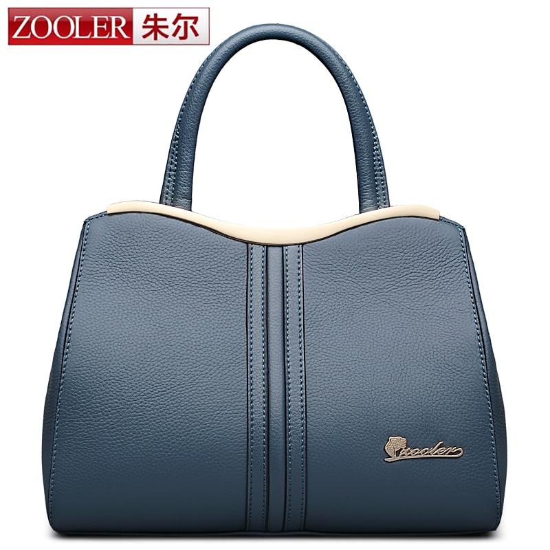 ZOOLER Brand New OL Women Messenger Bag Business Shoulder Bag High Quality Genuine Leather Tote Bag Clutch Boston Thread Handbag