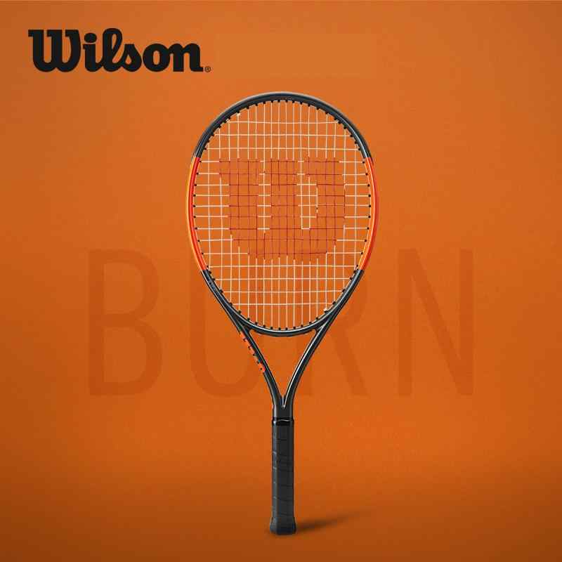 Original  Wilson High Strength Carbon Fiber Shock Absorption Junior Professional Tennis Racket Burn 25s Child WRT534000