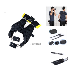 Black Double Shoulder Sling Belt Quick Rapid Strap Photo Studio Accessories for DSLR Digital SLR Camera