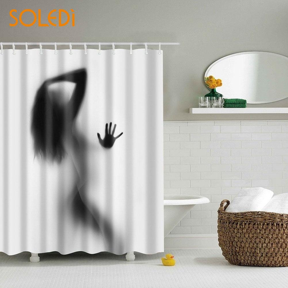 Decor Luxurious Shower Curtain Butterfly Lady Theme Bathroom-in ...
