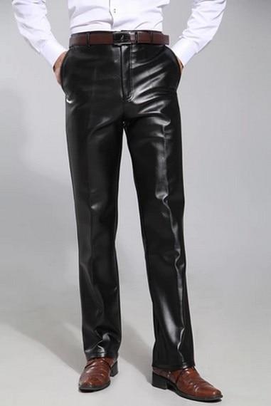 taille pantalons hiver Faux 2015 homme noir Casual pantalon Pantalon de Casual Mens Harem mode automne cuir dans 30 pantalons velours Plus 42 mince Slim wvrxwT