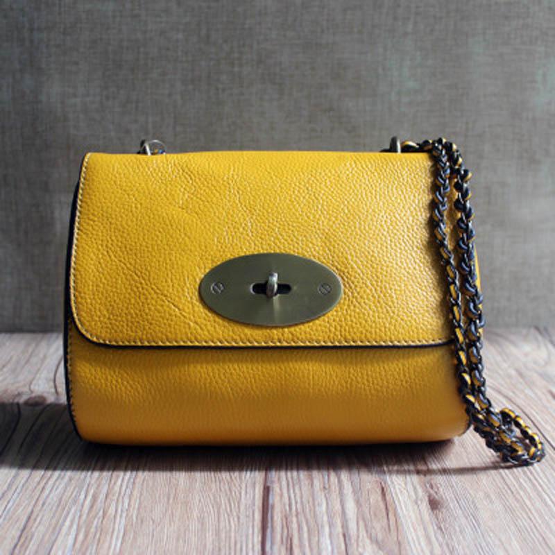 YISHEN Fashion Genuine Leather Luxury Women Shoulder Bags Small Chain Bags Versatile Ladies Crossbody Bags Flap