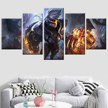 HD printing 5 piece set League of Legends LOL poster canvas painting modular modern decorative bedroom living room wall art(China)