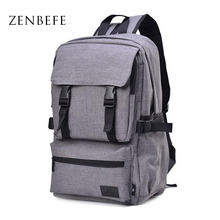 ZENBEFE Vintage Unisex Backpack Canvas Bag Casual Student School Bag Travel Bag Daily Satchel Rucksack Backpack For College