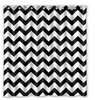 Custom Chevron Black And White Waterproof Polyester Fabric Shower Curtain Bathroom Home Decro Size 150x180cm Freed