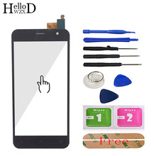 Mobile 5 Front Glass For Prestigio Muze B3 PSP3512 DUO PSP 3512 Touch Screen Glass Digitizer Panel Lens Sensor Tools Adhesive