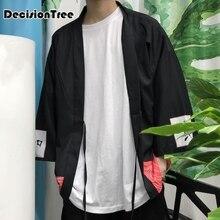 2019 men casual hiphop male japan style cardigan kimono loose coat plus japan style hiphop kimono linen overcoat толстовка hiphop