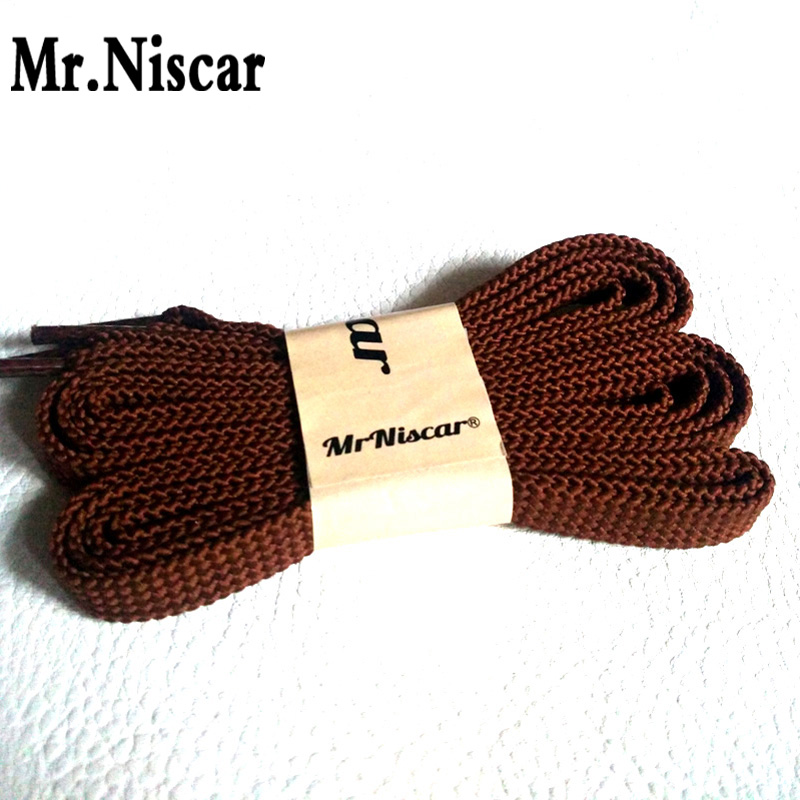 Mr.Niscar 1 Pair Fashion Sneaker Shoelaces Flat Red Brown Shoe Laces Strings for Sneakers Casual Shoes Brand Sports Shoelaces warp s plast o mat shelf liner ribbed 12 w x 20ft l non adhesive clear
