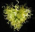 Зеленый цвет и энергосберегающий светильник светодиодное освещение ручная выдувная люстра из муранского стекла