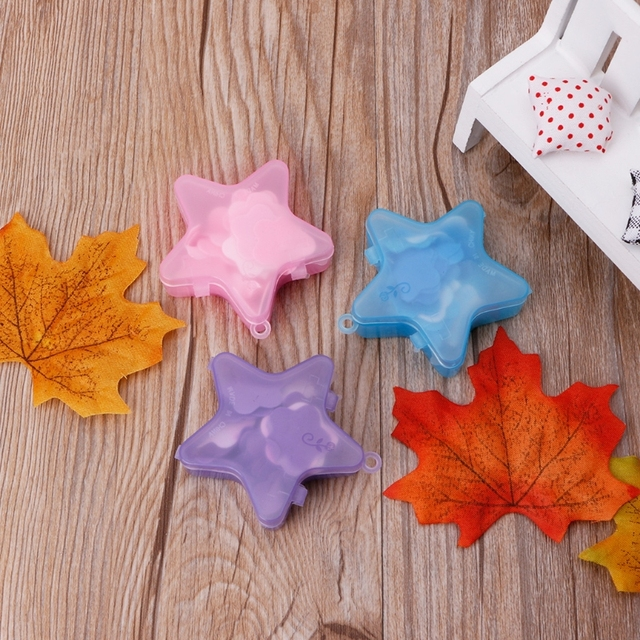 1 Box Stars Shape Convenient Washing Cleaning Hand Paper Soap Anti-Bacterial Portable Gift Random color New 3
