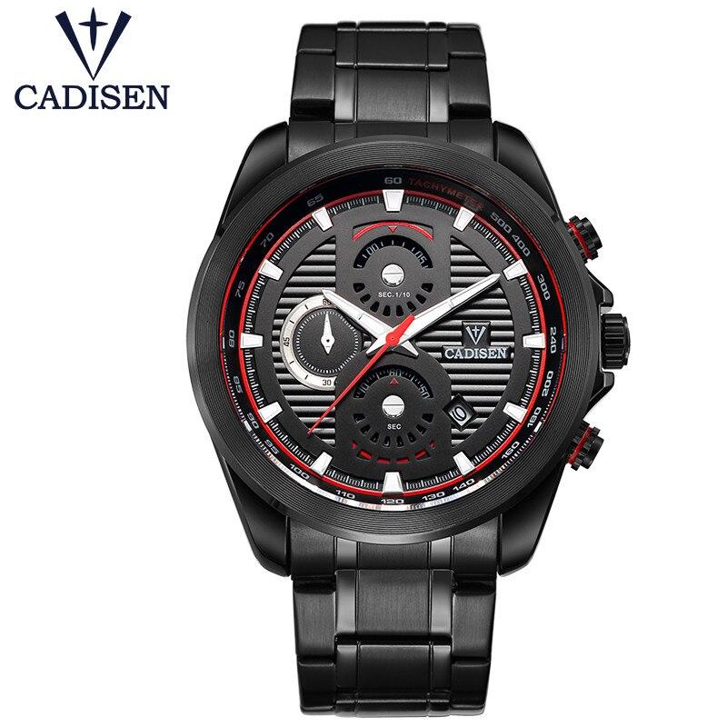 Men Watches CADISEN Brand Luxury Waterproof Clock Men Quartz Watch Fashion Casual Calendar Sport Wristwatch Relogio Masculino