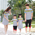 Family Matching Outfit Striped Family Clothing Mother and Daughter Dress Father and Son Clothes Parent-Child Clothing LB68