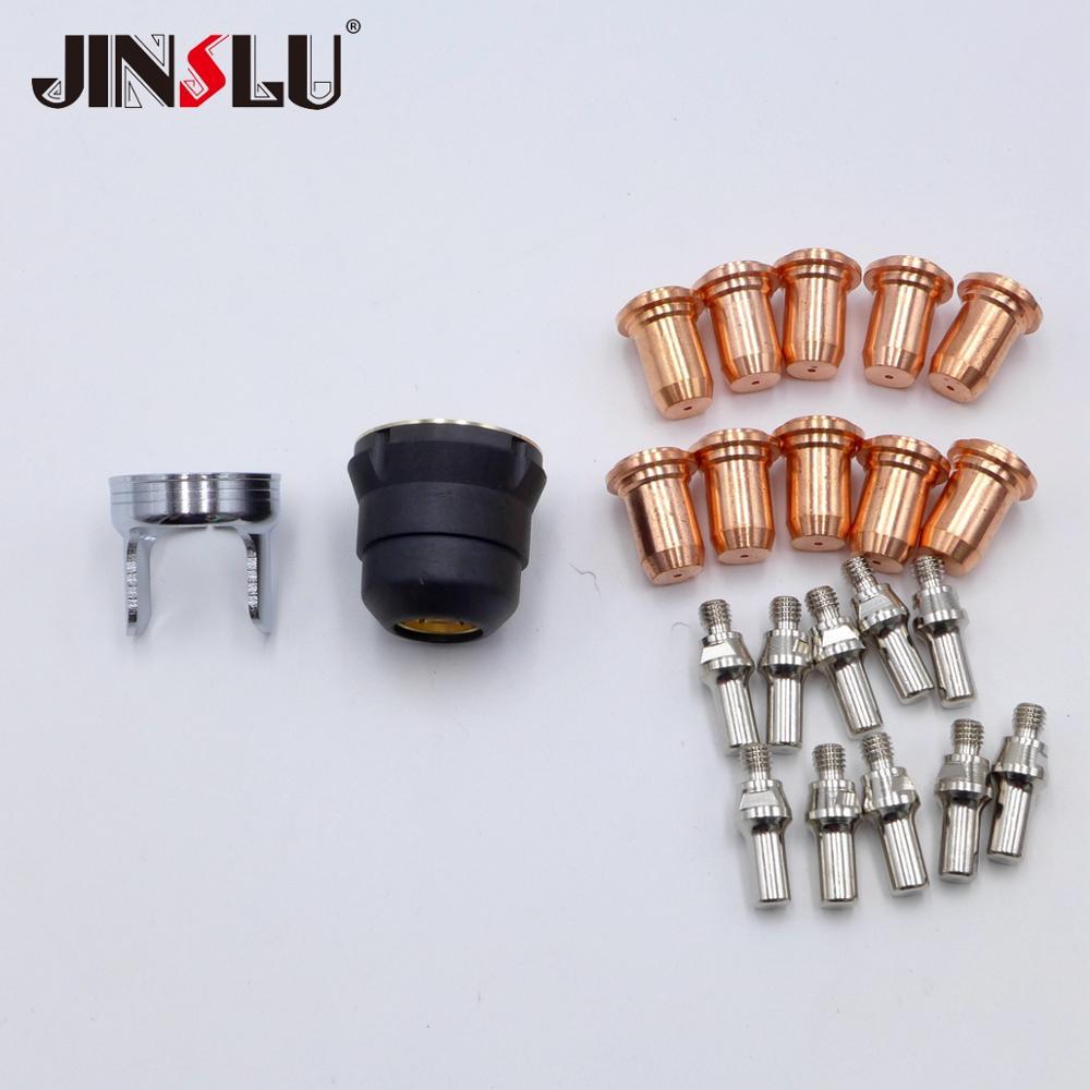 Nozzle Electrodes Tips Kit Fit PT-60 PT-40 IPT-60 IPT 60 IPT-40 PTM-60 Back Striking Plasma Torch Comsuambles NON HF Pilot Arc
