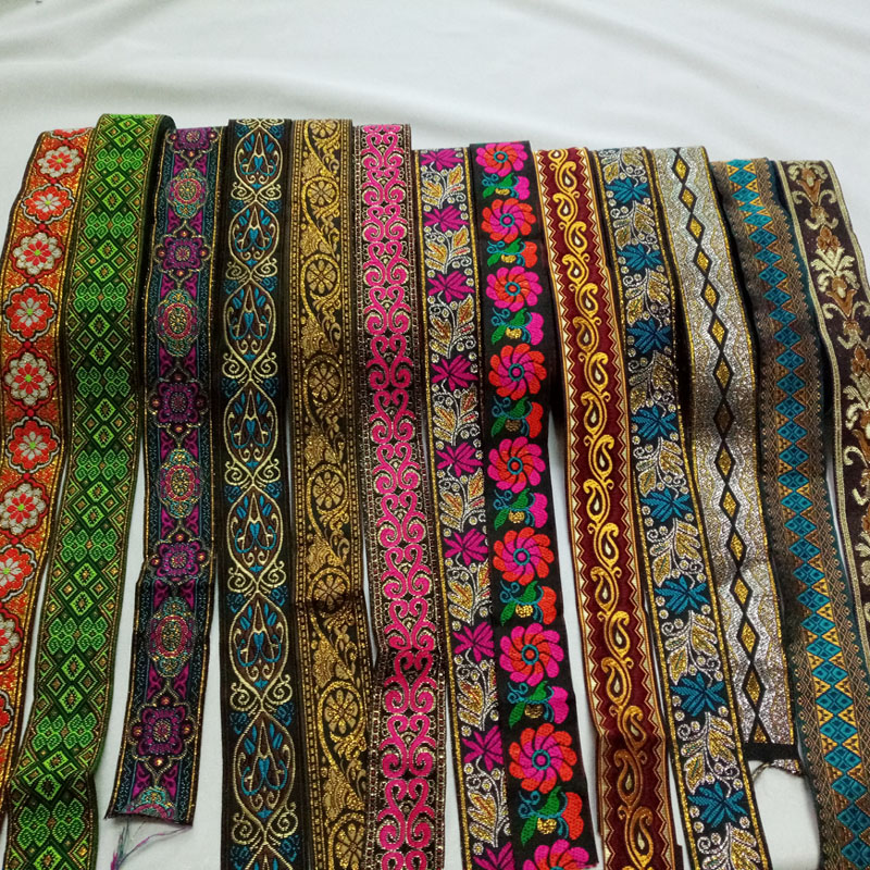Woven ribbon cord DIY belt jacquard 33mm wide 3 meters dog belt webbing accessories Ribbon Trim belt