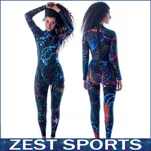 High quality,3mm thick women long-sleeved printing wetsuit, Individuality surf clothing, fall and winter, Neoprene,swimsuit