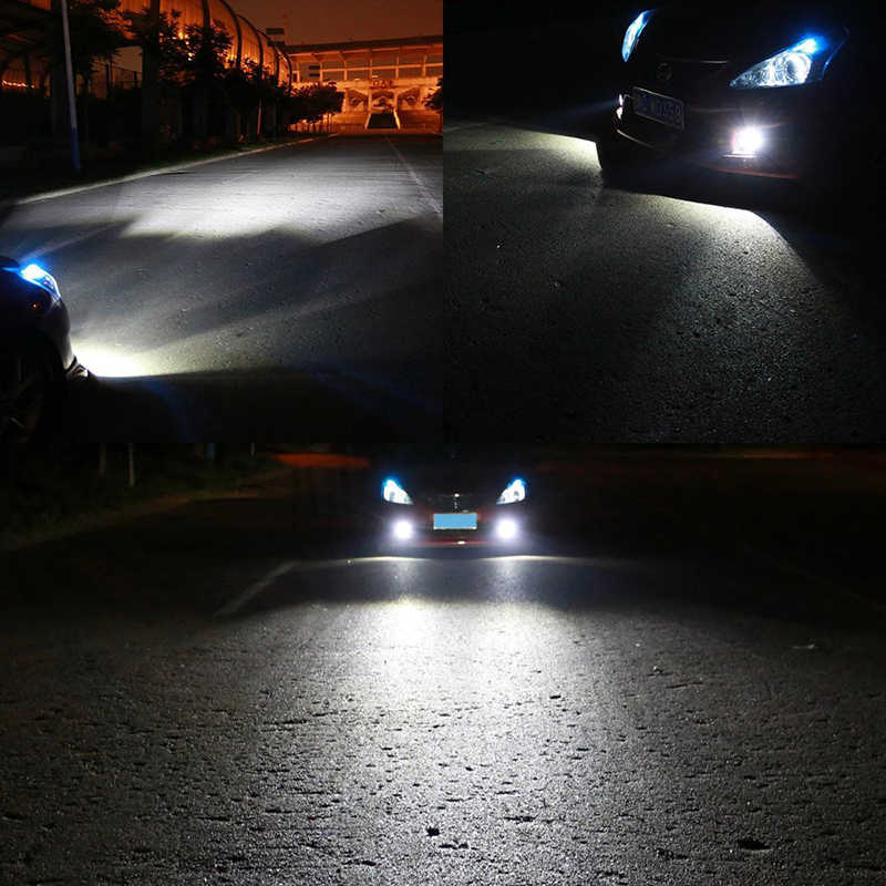 Bostar 2 قطعة الاستهلاك المنخفض عالية الطاقة LED لمبة المصباح/فوجليت حياة طويلة H4 H7 H8 H11 9005/9006 3000K 100 واط الضوء الأبيض #94209
