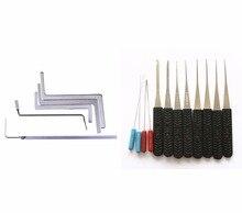 Herramientas de cerrajería Kit 2 En 1 Unidades 5 unids Cerrajero Herramientas de la Llave, 10 unids HUK Cerrajería Broken Key Extractor herramientas