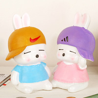New Design MashiMaro Resin Coin Bank Currency Save Money Cute Rabbit Money Box Coin Bank Creative