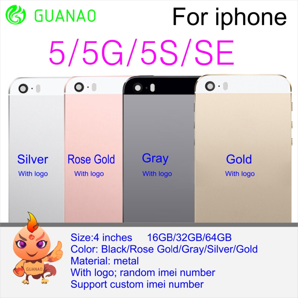 Battery-Housing Replacement Back-Cover Rear-Case Mobile-Phone Metal for 4 4G 4S 5 5G