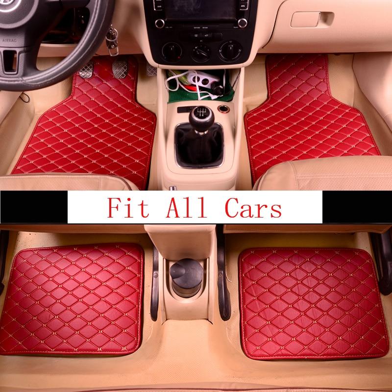 Universal Car Floor Mats Leather Waterproof Carpet Floor Mats For Mercedes Benz W203 S203 CL203 W204 S204 C204 W205 S205 C Class
