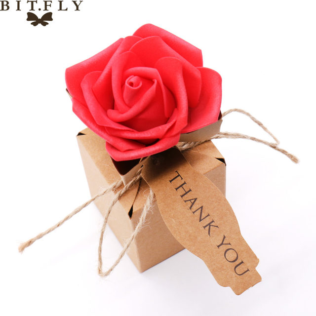 Online Shop Bitfly 10pcs Kraft Diy Vintage Paper Candy Boxes Gift