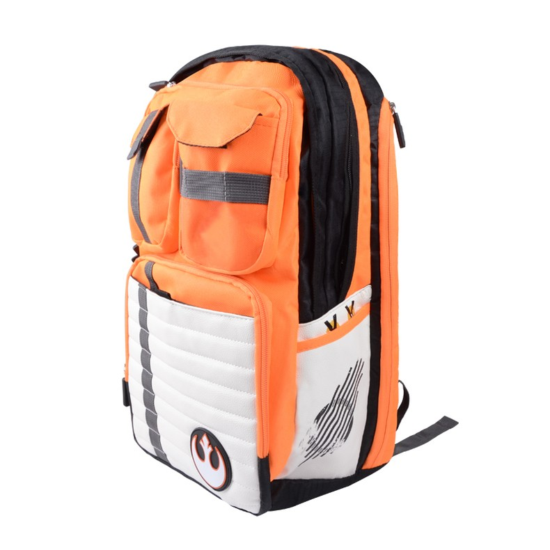 front side rebels logo school bag backpack