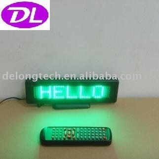 scrolling moving message led table display sign panel P6mm 7X35pixel DIP semi-outdoor green,free shipping to USA and Canada