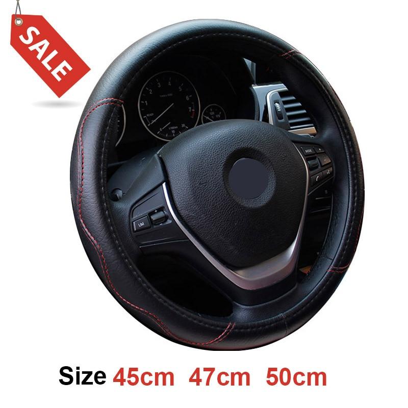Dermay Size 45cm 47cm 50cm Steering Wheel Cover Faux
