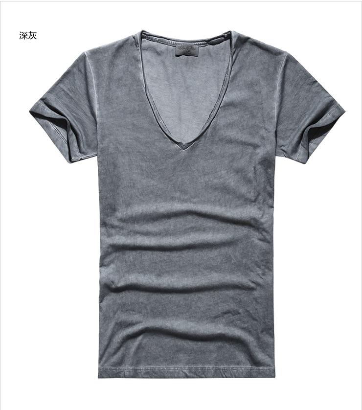 T-shirt Hommes Marque Vintage rétro t-shirt Hommes Solide - Vêtements pour hommes - Photo 5