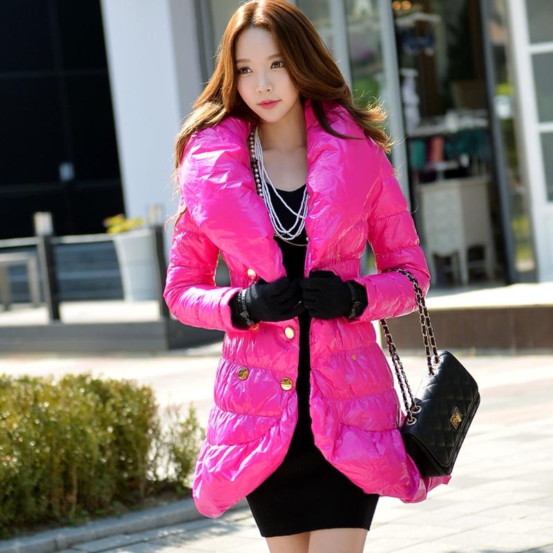 dabuwawa winter fashion casual white duck down jacket double breasted puff collar warm fishtail coat women pink doll