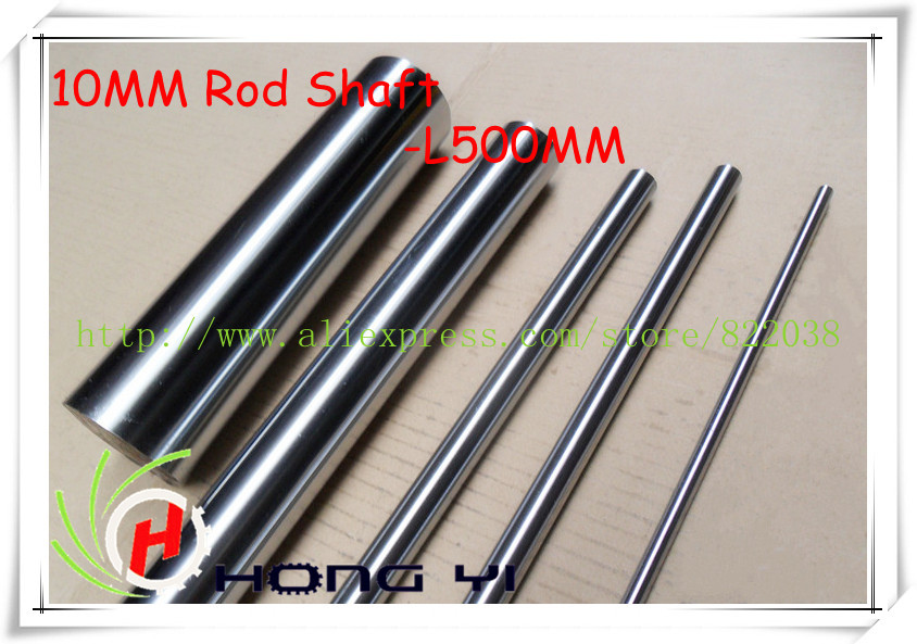4pcs 10mm - L500mm chrome plated Cylinder Linear Rail Round Rod Shaft Linear Motion Shaft for CNC XYZ chrome plated wired control plate for jazz bass total approx 152 54 mm l 344