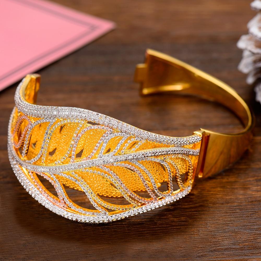 Siscathy Trendy Full Cubic Zirconia Women Bangle Ring Luxury Wedding Bridal Engagement Jewelry Sets 2019 New Design Jewelry Sets in Jewelry Sets from Jewelry Accessories
