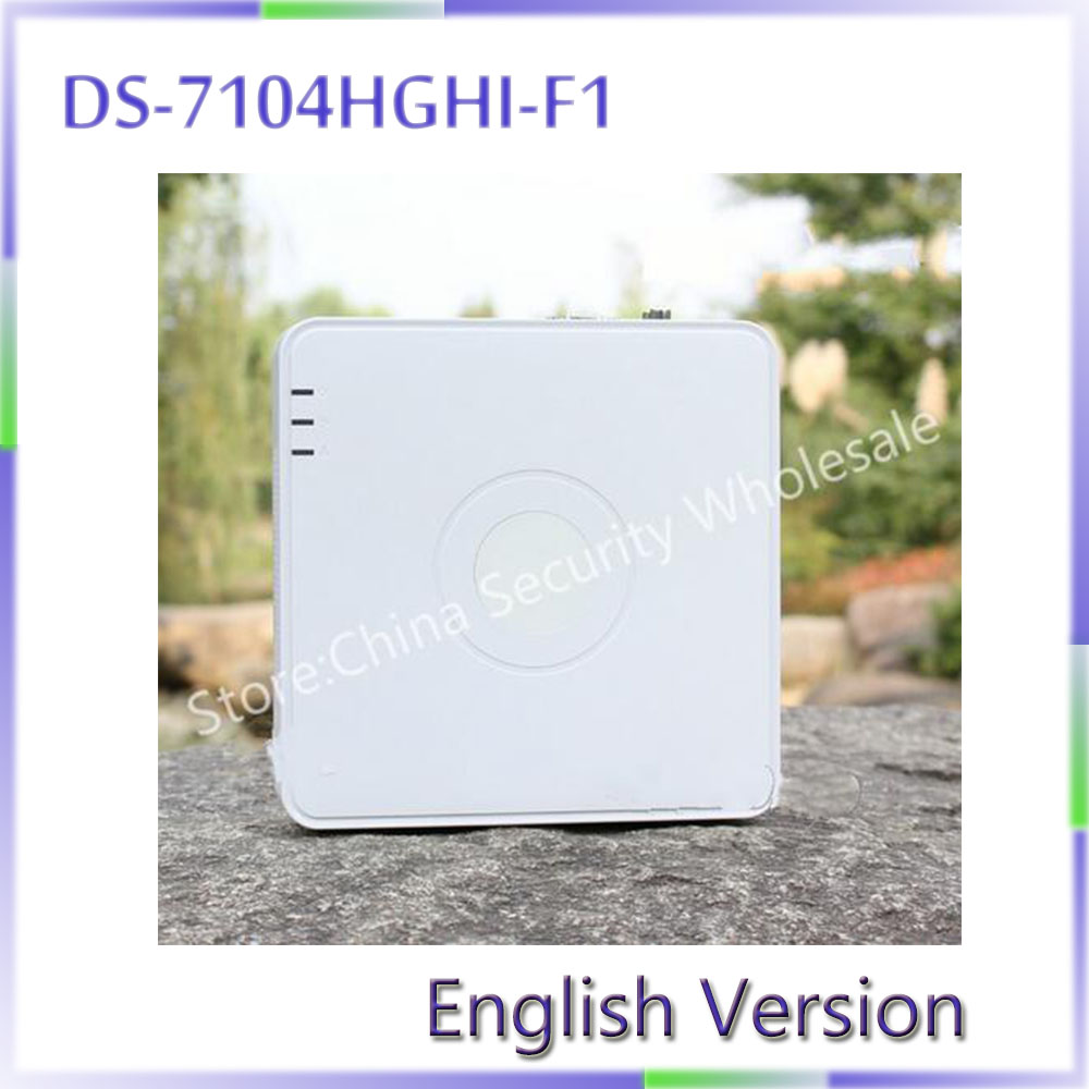 ФОТО In stock English Version DS-7104HGHI-F1 4ch Turbo HD DVR Support both HD-TVI /analog and AHD cameras with adaptive access