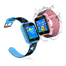 Kids Smart Watch DS37 1.44inch Touch Screen IPX7 SOS GSM LBS Location Remote Camera Flashlight Children Watches