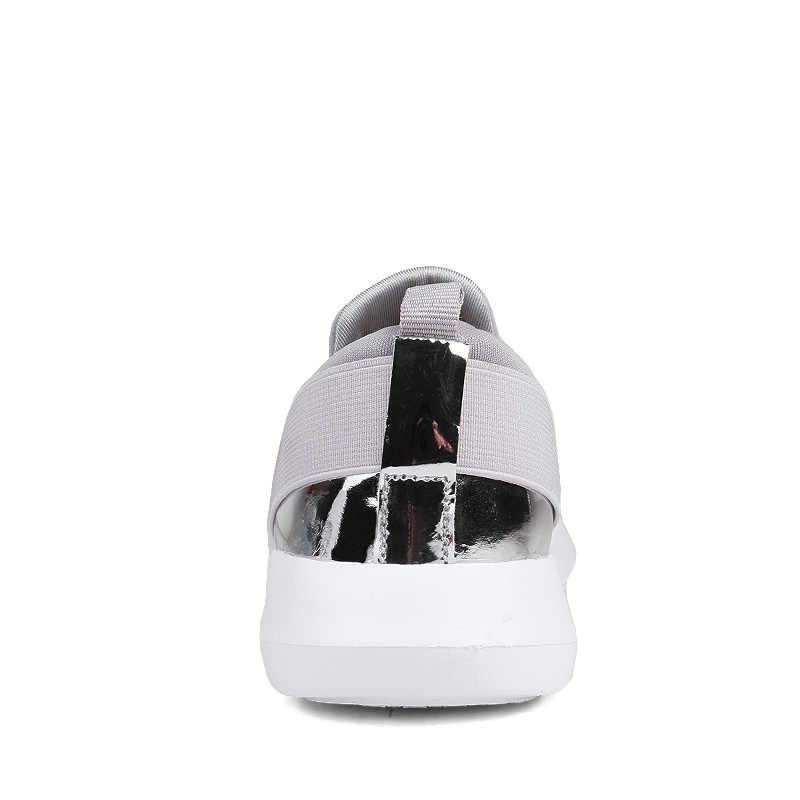Verano Mujer zapatos planos Casual Slip on Ladies Shoes transpirable cómodo Sneakers mujer exterior malla Casual 2019
