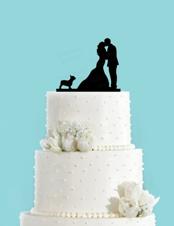 bc72cd905a1 Detail Feedback Questions about Wedding Couple Kissing with French Bulldog  Acrylic Wedding Cake Topper Bride and Groom Cake Topper Party Cake  Decoration on ...