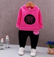 Children Clothing Baby Girl Clothes 2018 Spring New Arrival Kids Girl Printed Sweatshirt+Casual Pant 2Pcs/set Hot Selling QHQ046