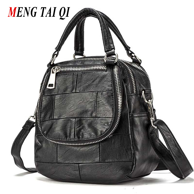 Women Bag 2016 Handbag Leather Shoulder Bags Ladies Messenger Bag High Quality Brand Satchels Patchwork Zipper Bolsa Feminina  4 цена и фото