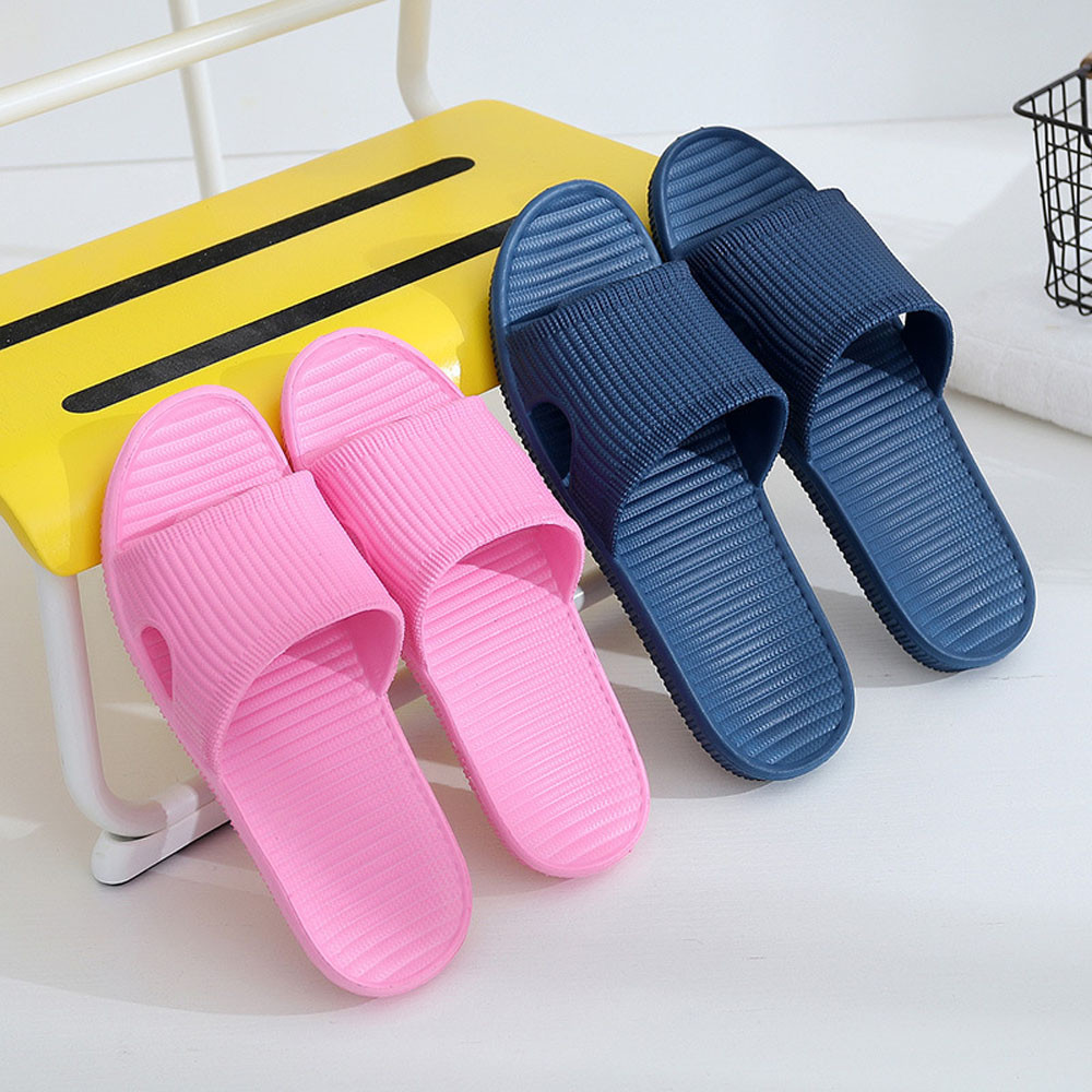 Outdoor Indoor Bathroom Slippers Men's Non-Slip Floor Flat Slippers Summer Hotel Flip-Flops Men Shoes Chaussure Homme
