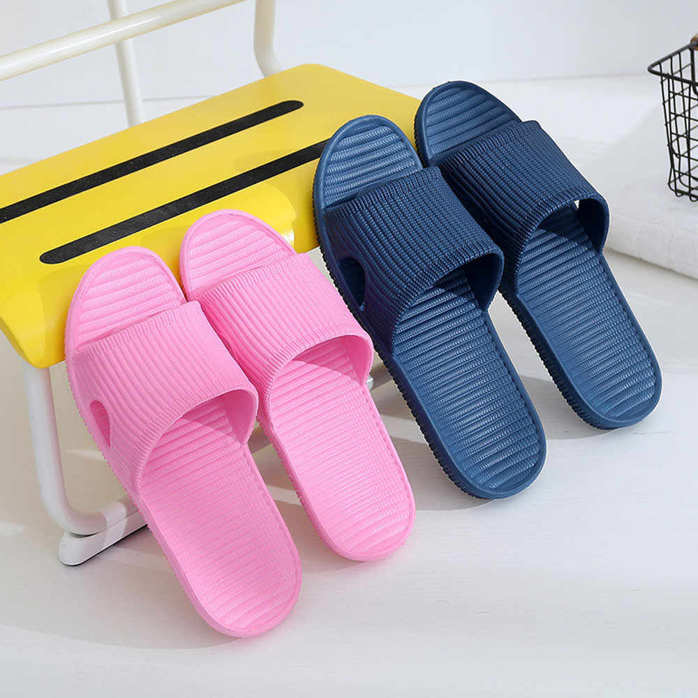 Erkekler şerit düz banyo terlikleri yaz sandalet ayakkabı erkek kapalı açık terlik ev terlik ev Flip Flop kadın ayakkabısı #20