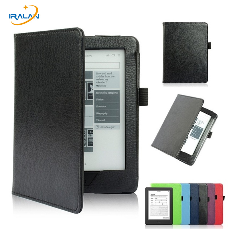Litchi leather Protective Case For Kobo Glo HD 6