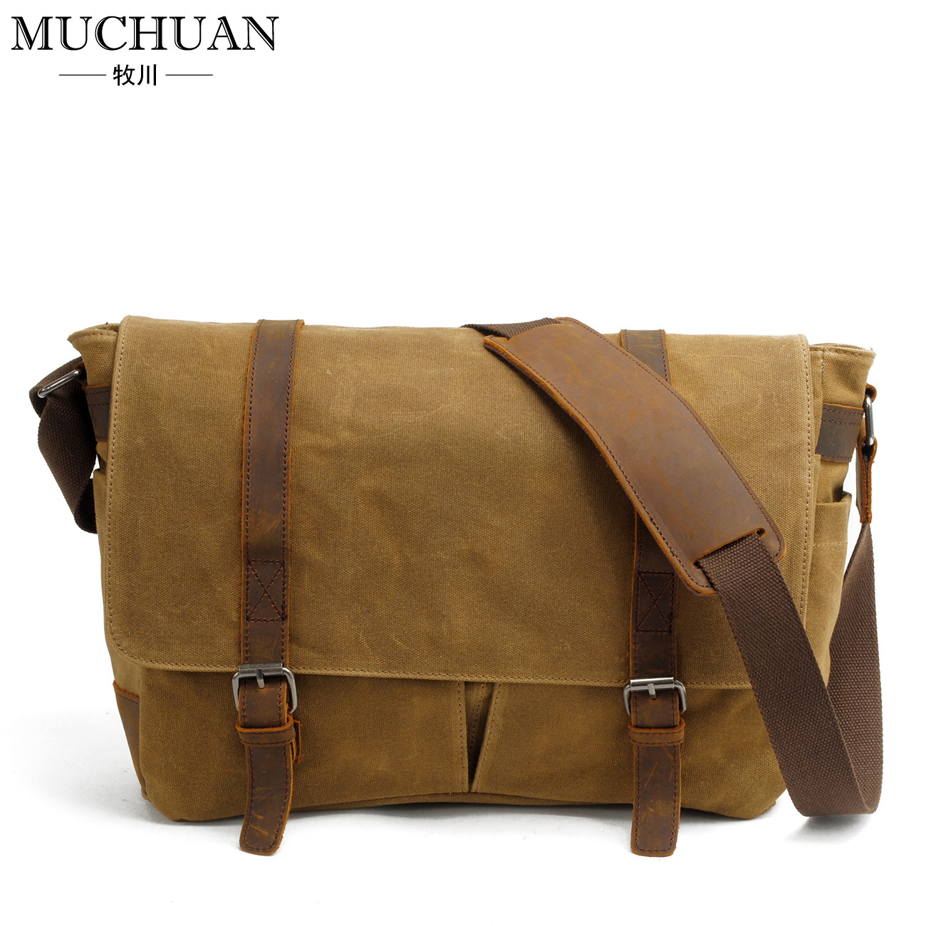Popular Waxed Canvas Messenger Bag-Buy Cheap Waxed Canvas ...