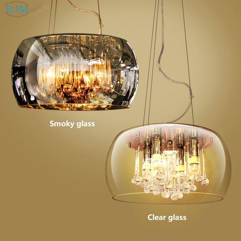 Modern Luxury Glass Lamp Shade Crystal Pendant Lamp Creative Pendant Light Lampshade Novelty Hang Lamp Room Home Lighting Decor